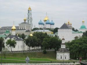 Vista del monasterio de San Sergio en Sergev Posad